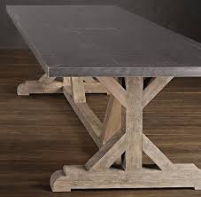 Metal Base For Trestle Table Solid Wood Dining Table Tops by Best 25 Restoration Hardware Dining Table Ideas On Pinterest