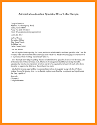 sample cover letter for administrative job image collections