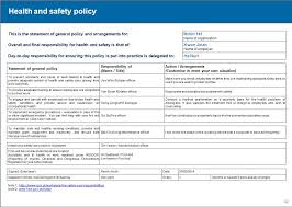monthly health and safety report template safety analysis template construction professional and high