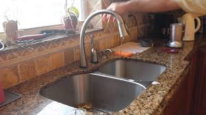 kitchen faucets for granite countertops bathroom omicron granite countertop with kraus sinks and delta