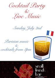 French Cocktail Party - live band french cocktail amazing small french bar facebook