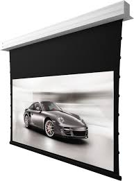 How To Hang A Projector Screen From A Drop Ceiling by Motorized Projector Screen 5 Series Residential
