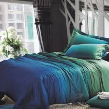 Duvet Cover Sheets Unique Bedroom Interior With Blue Green Gradient Bedding Sets And