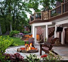 Deck Firepit Pits For Decks About Pit On Wood Deck On Home Design