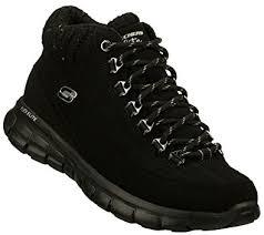 skechers womens boots uk skechers memory foam wil walking boots trainers