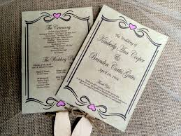 rustic wedding program templates diy paddle fan wedding program template picture ideas references