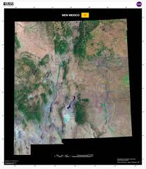 Satellite Map Usa New Mexico Satellite Imagery State Map Poster U2013 Terraprints Com