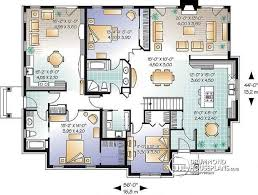 Multi Unit House Plans Multi Family Plan W3042 Detail From Drummondhouseplans Com