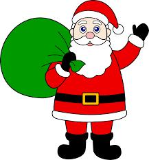 santa claus santa claus with sack of gifts free clip