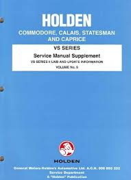 holden commodore vs series 2 factory workshop manual supplement