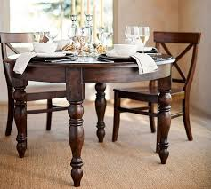 round kitchen table with leaf evelyn extending round dining table pottery barn