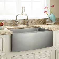 24 optimum stainless steel farmhouse sink curved apron kitchen