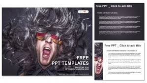 rock star singing over black background powerpoint templates