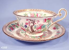 royal doulton indian tree vintage bone china tea cup and saucer