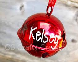 jingle bell ornament etsy