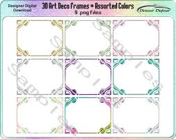 printable art deco borders 1 2 off coupon code 9 art deco borders digital art deco frames