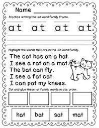 at word family worksheet worksheets