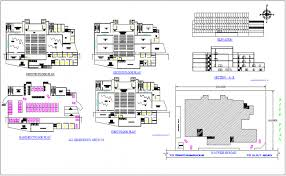 building site plan auditorium building floor plan site map and elevation view dwg file
