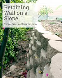 retaining wall on a slope simple practical beautiful