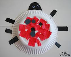 paper plate ladybug craft mess for less