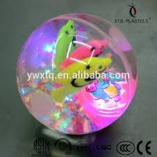 ball with light inside flashing led rubber ball glitter splicing led rubber ball light up