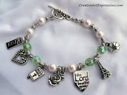 charm bracelet designs images Creative art expressions handmade pink green charm bracelet JPG
