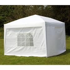 10 x 10 palm springs ez pop up white canopy gazebo tent with 4