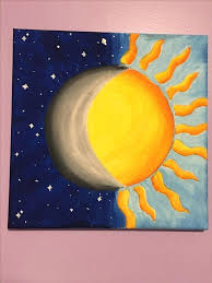 cool painting ideas image result for half warm paintings easy