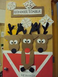 christmas door decorations with reindeer u2013 happy holidays