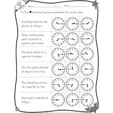 free worksheets telling time worksheets quarter to free math