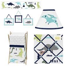 Jojo Baby Bedding Rawr Blue Green Dinosaur Crib Bedding 9pc Baby Nursery Set