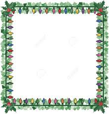 Christmas Garland With Lights by Christmas Lights In A Frame With Holly And Sparkling Garland