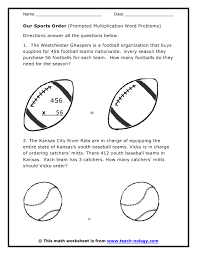 sports word problems multiplication word problem worksheets