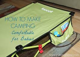 how to make camping comfortable for babies with joovy