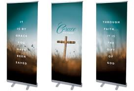 grace has a name banner church banners outreach marketing
