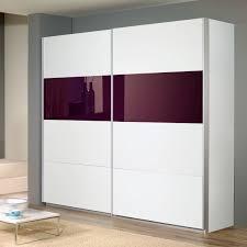 Schlafzimmer Quadra Schwebetürenschrank Quadra In Weiß Glas Lila 271cm Ebay