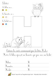 lettre h alphabet abécédaire pédagogique dessins commençant par