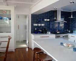 Tile Kitchen Backsplash View In Gallery Green Kitchen With Swiss - Blue backsplash tile