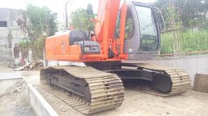 backhoe excavator long arm with breaker line hitachi zx200lc