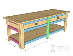 Free Wood Plans Coffee Table by Ana White Wooden Train Table Coffee Table Diy Projects