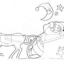 santa claus u0026 sleigh coloring pages hellokids