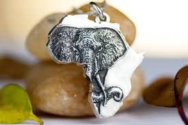 sterling silver necklace jewelry images Africa necklace elephant african jewelry sterling silver jpg