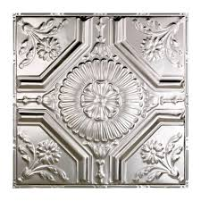 Tin Ceiling Panels by Great Lakes Tin Decorative Metal Ceiling Tile Nails In Silver 100