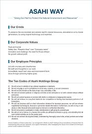 Science Essay Examples Corporate Philosophy And Logo About Us Asahi Holdings