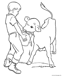 farm animal coloring book feeds the calf farm animal s00f7 coloring pages printable