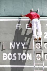23 best red sox paint colors images on pinterest benjamin moore monstereverywhere benjamin moore painter touching up the green monster the fenway collection limited