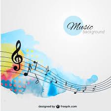hand painted music background vector free download