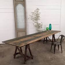 wooden trestle table legs vintage old industrial wooden french metal trestle table legs coffee