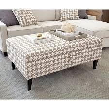 White Storage Ottoman Shop Living Casual Beige White Storage Ottoman At Lowes