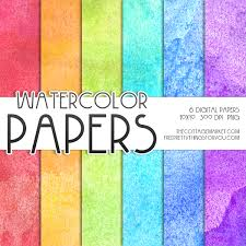 Scrapbook Paper Packs Free Watercolor Digital Paper Pack 1 The Cottage Market